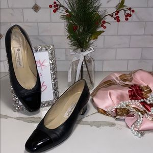 ETIENNE AIGNER BLACK LEATHER HEEL 👠 MADE IN SPAIN